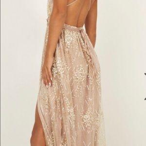 b33bc77d7c6 Dresses - Showpo New York Nights Maxi Dress Gold